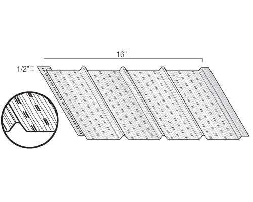 """16"""" Vented 4-panel Soffit"""