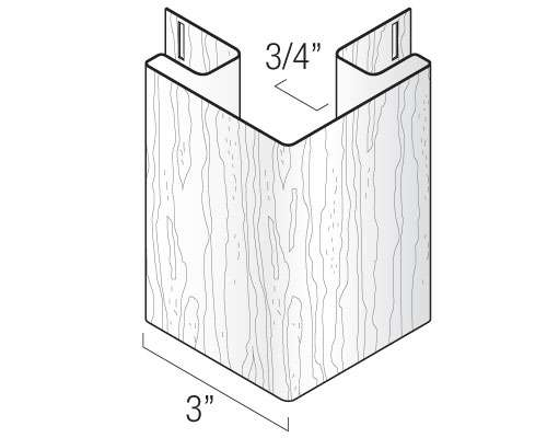 "3"" Outside Corner Post"