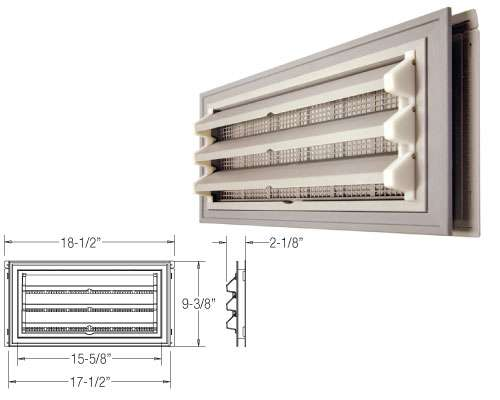 Foundation Master - Fixed Louver molded-in screen